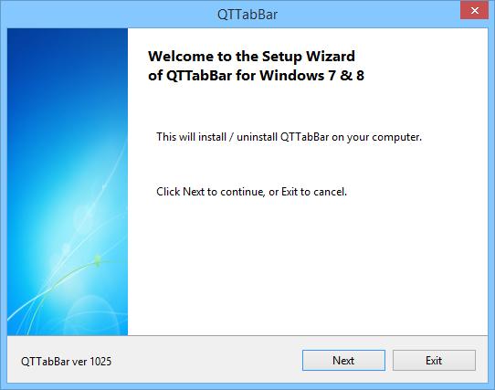 Install & Uninstall - QTTabBar Manual
