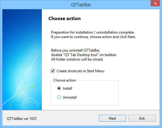 Install & Uninstall - QTTabBar Manual